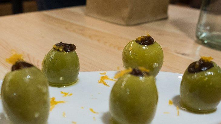 Olives, vermouth & orange, Teoric Taverna Gastronomica, Barcelona