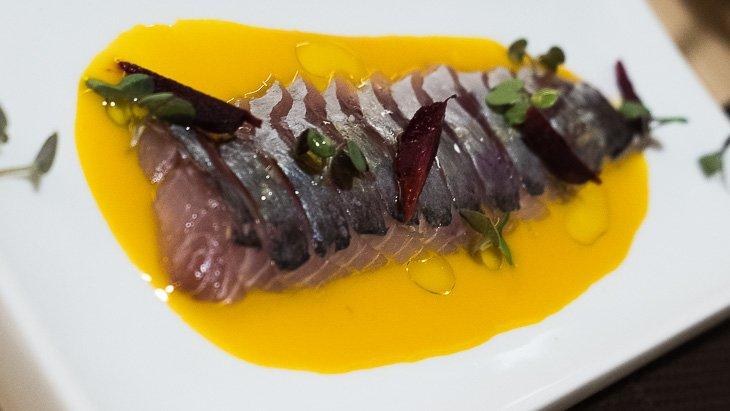 Horse mackerel & carrot, Teoric Taverna Gastronomica, Barcelona
