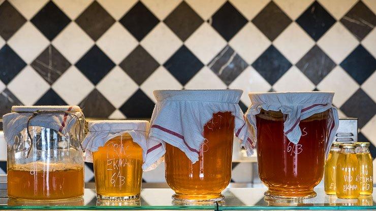 Jars of kombucha, Restaurant, Fotografiska, Stockholm