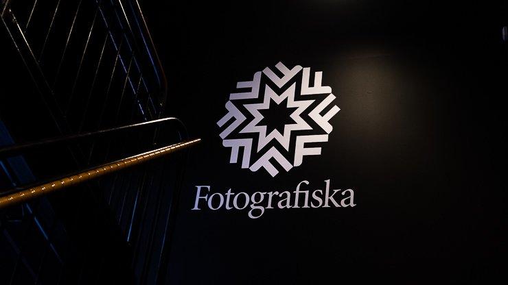 Logo on stairs, Fotografiska, Stockholm