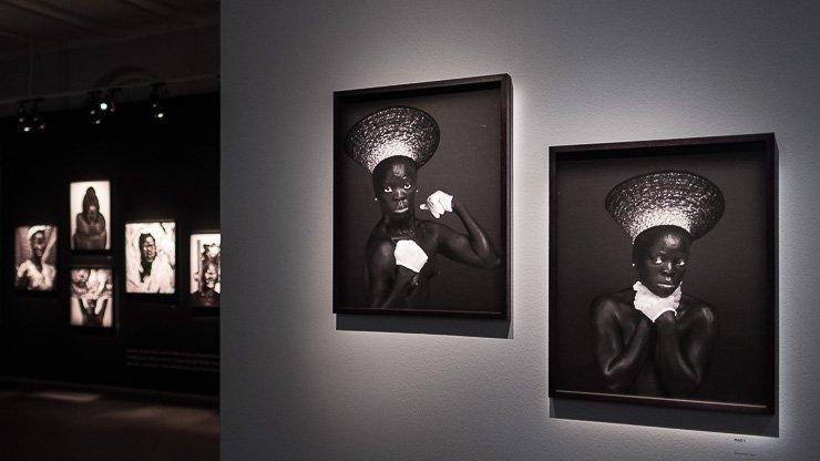 Photos in the Zanele Wuholi exhibition, Fotografiska, Stockholm