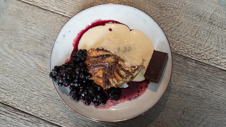 Plate with dessert, Fotografiska, Stockholm