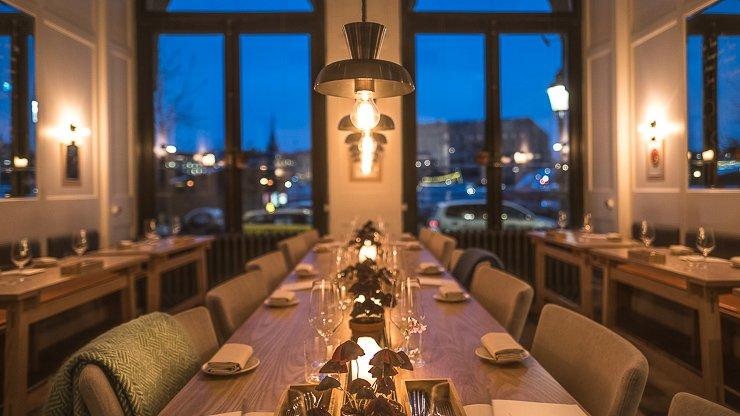 View of dining room at Rutabaga, Stockholm