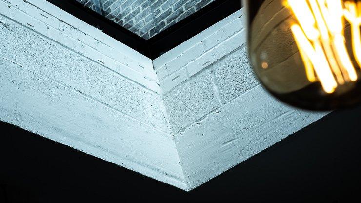 Skylight, ceiling, Cornerstone