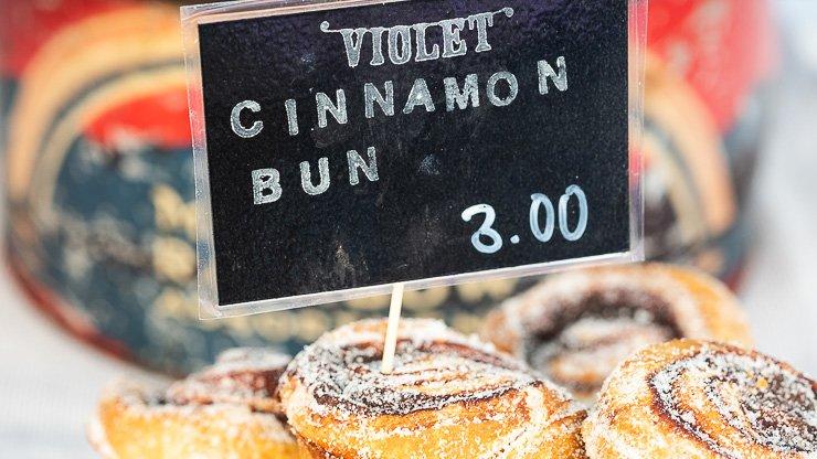 Cinnamon bun, Violet Bakery, London