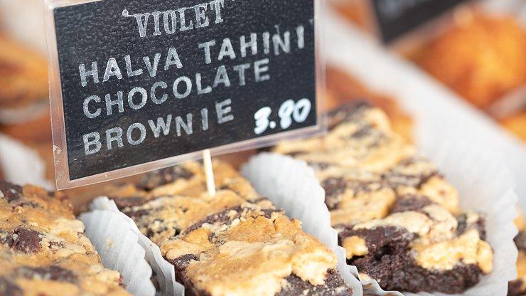 Halva tahini chocolate brownie, Violet Bakery, Broadway Market, London