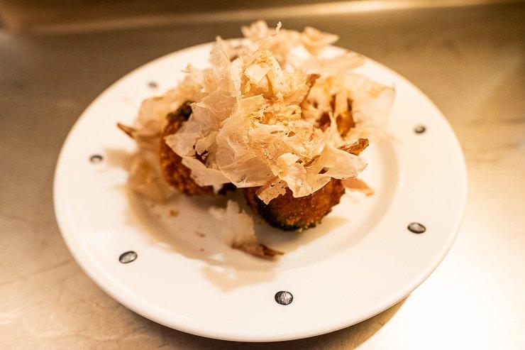 Cuttlefish takoyaki, Neptune Restaurant, London