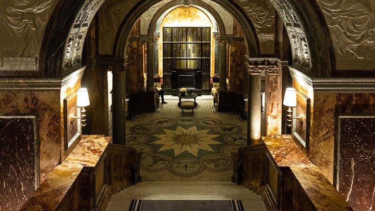 Lobby view from staircase, The Principal Hotel, London