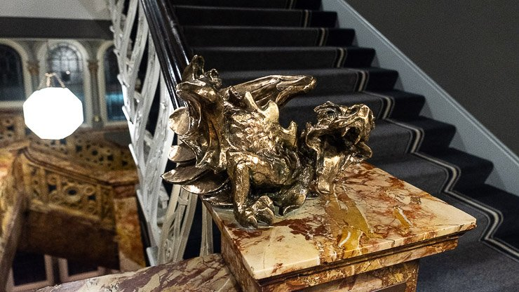 One of 2 bronze dragons, the other was on the Titanic, The Principal Hotel, London