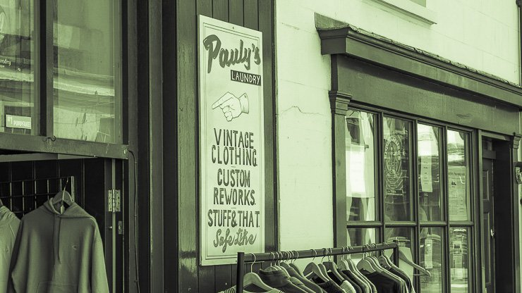 Exterior, Pauly's vintage store, Upper Gardner Street, North Lane, Brighton
