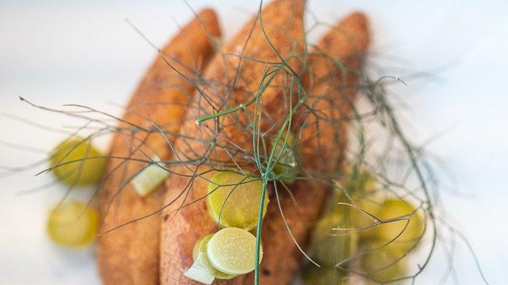 Potato Dumplings, Mustard, Ferments, Silo Restaurant, Brighton