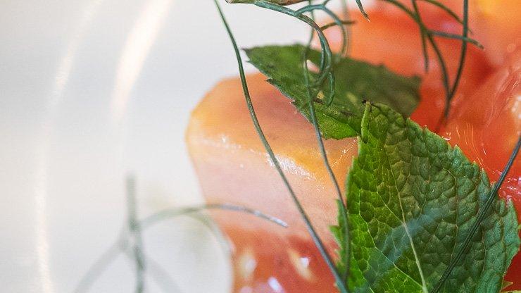 Close-up of Tomato, Silo Curd, Sourdough Toast, Silo Restaurant, Brighton