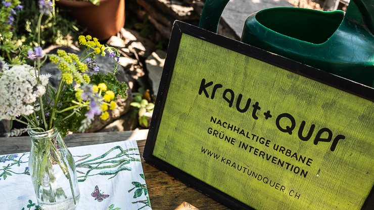 Sign for Kraut + Quer, Frau Gerolds Garten, Zurich