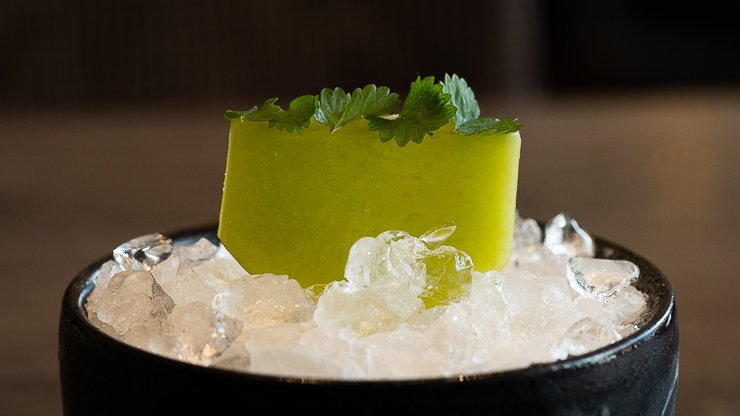 Close up of Raw Kohlrabi Pine Salad Burnet, Carters of Moseley