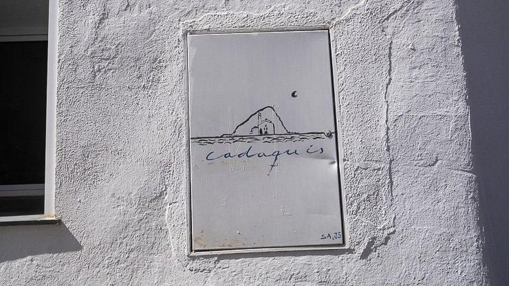 Sign, Cadaques, Catalonia