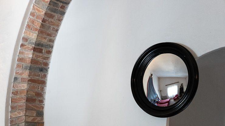 Mirror in Dali's bedroom at his house in Port Lligat