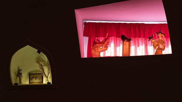 Pink and yellow light, Dali's house Port Lligat