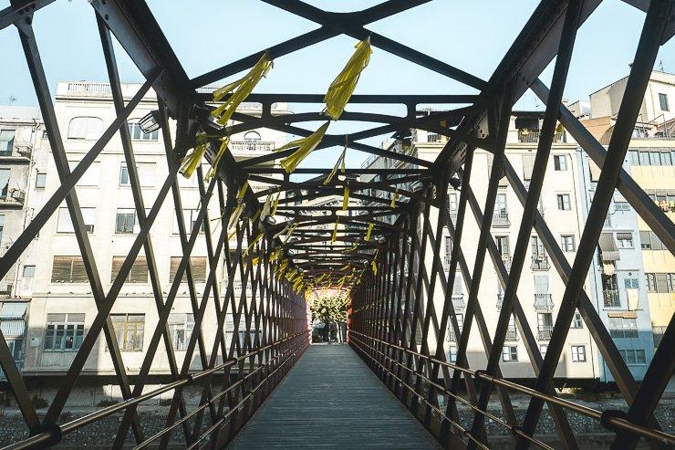 View along Eiffel Bridge, Girona