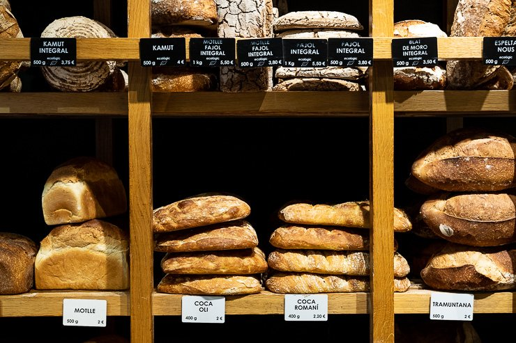 Bread on shelves, Casa Moner, Girona