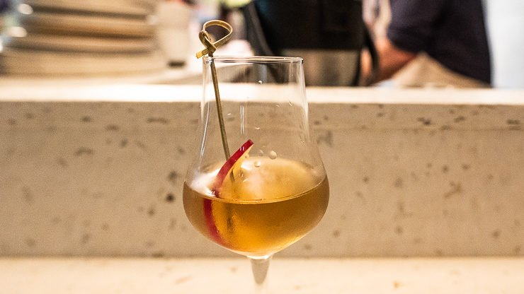 Rare Tea in glass, Lyan Cub, Hoxton, London