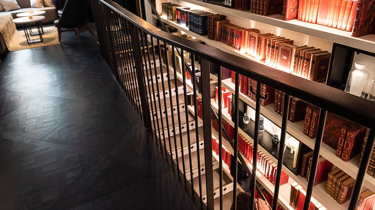 The library, Hotel Amastan, Paris