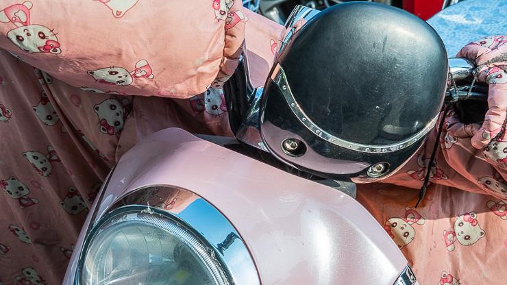Scooter, helmet, Suzhou