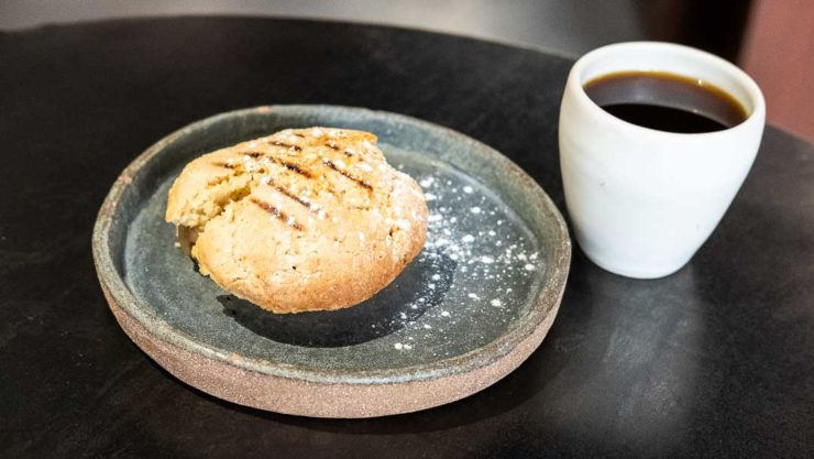Scone with coffee