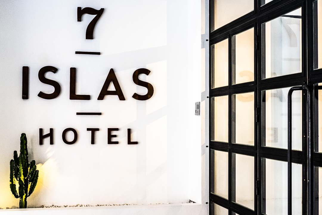 Entrance to 7 Islas Hotel