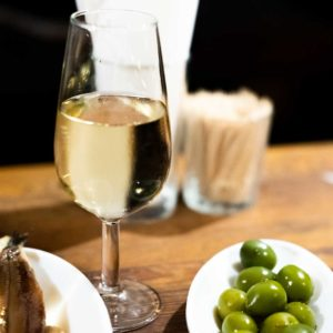 Fino with olives, La Venencia, Madrid