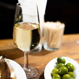 Fino with olives, La Venencia, Madrid