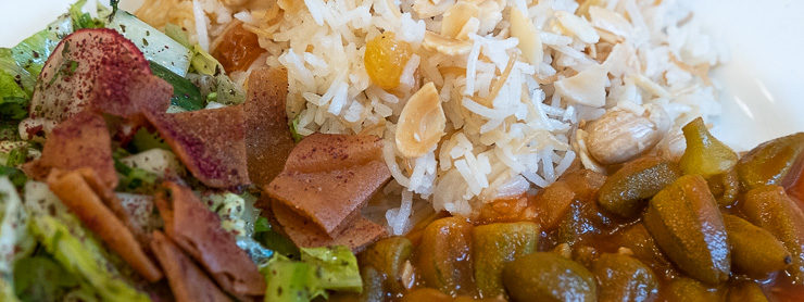 Rice and vegetable dish