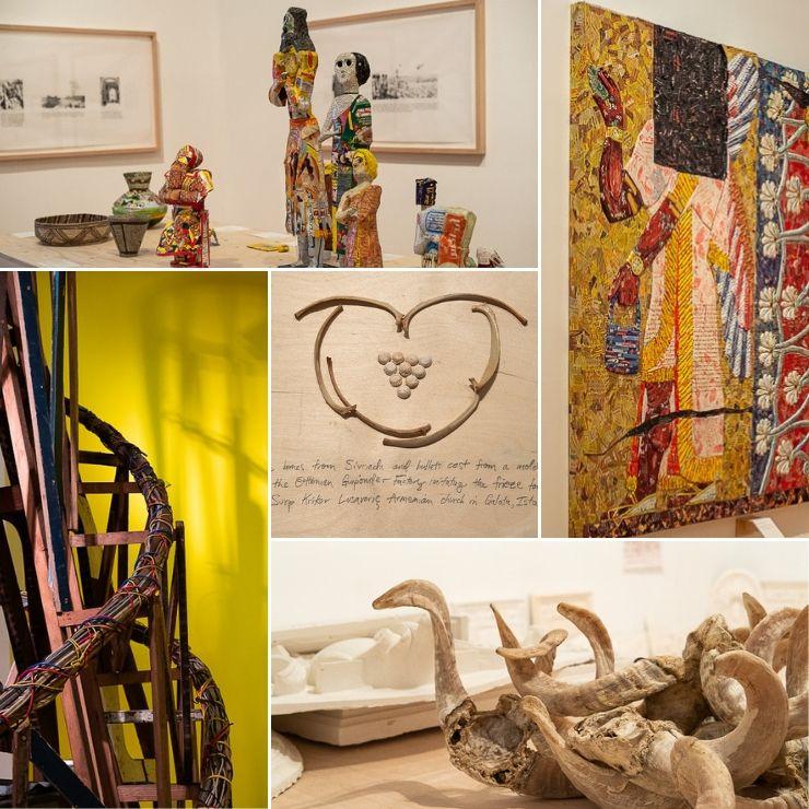 Five shots of exhibition