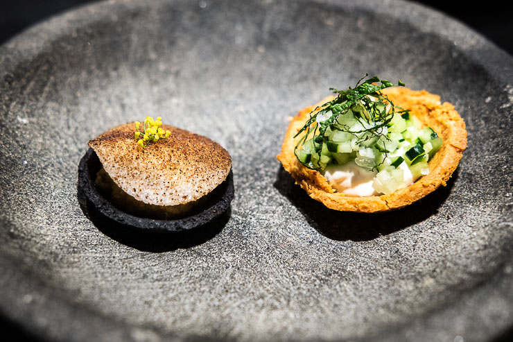 Two amuse-bouches, Fleur de Pave, Paris