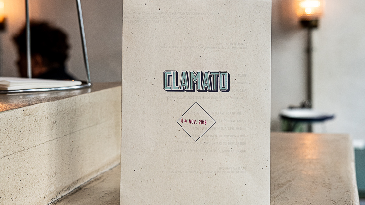 Menu, Clamato, Paris