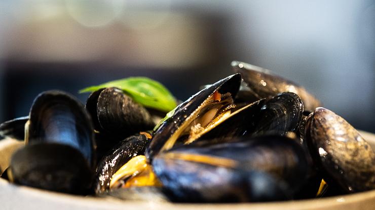 Mussels, Thai Basil, Le Servan, Paris