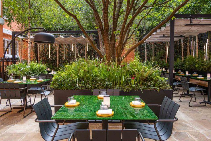 Native_courtyard garden with tables