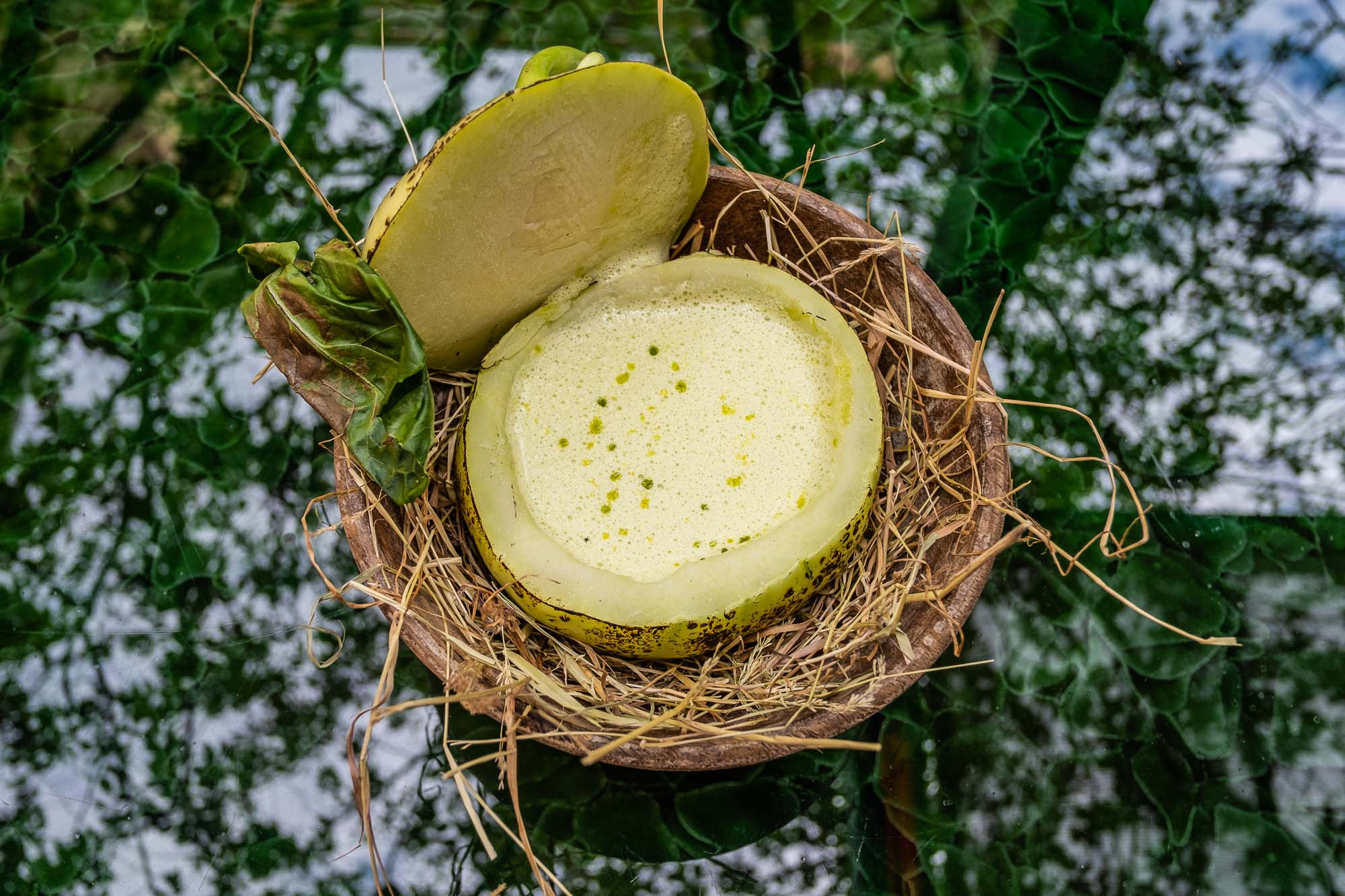 Native_kohlrabi sliced open with soup inside